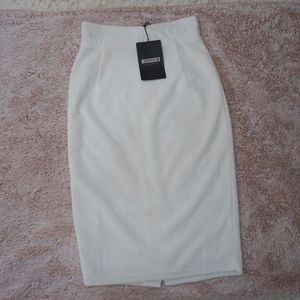 Missguided White Pencil Skirt